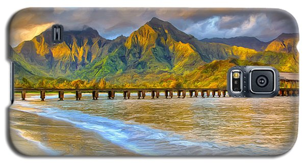 Golden Hanalei Morning Galaxy S5 Case by Dominic Piperata