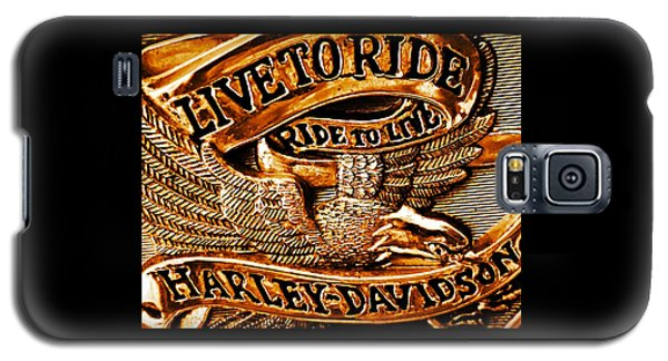 Golden Harley Davidson Logo Galaxy S5 Case