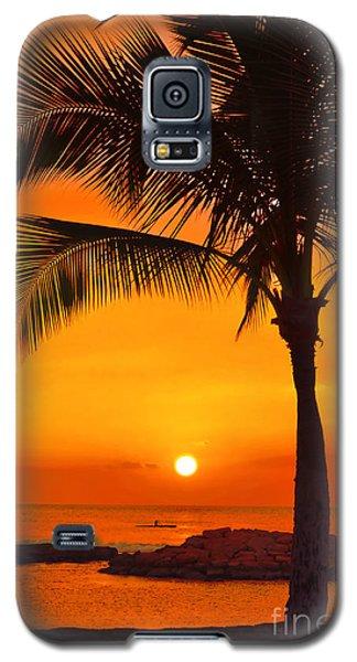 Galaxy S5 Case featuring the photograph Golden Hawaiian Sunset by Aloha Art
