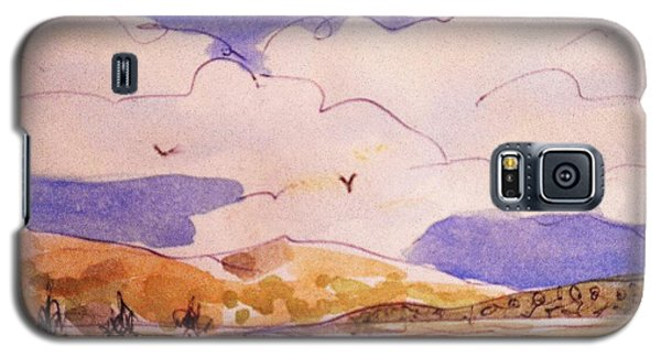 Galaxy S5 Case featuring the painting Golden Hills by Suzanne McKay