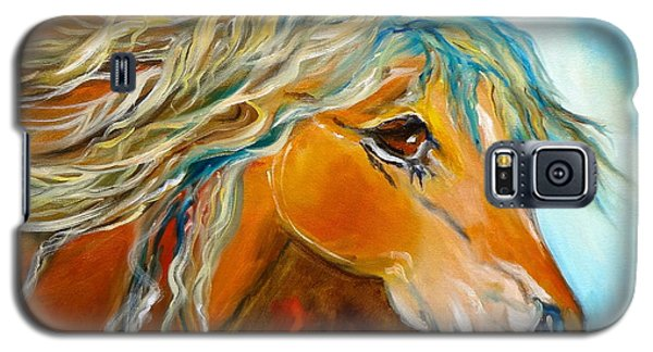 Galaxy S5 Case featuring the painting Golden Horse by Jenny Lee