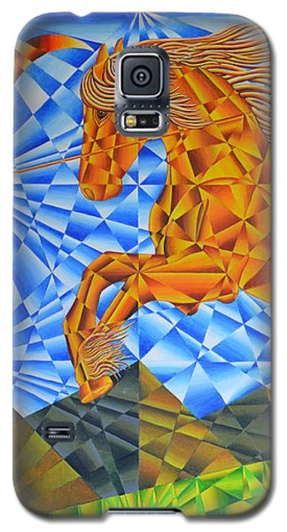 Golden Horse Over The Bitterroot's Galaxy S5 Case