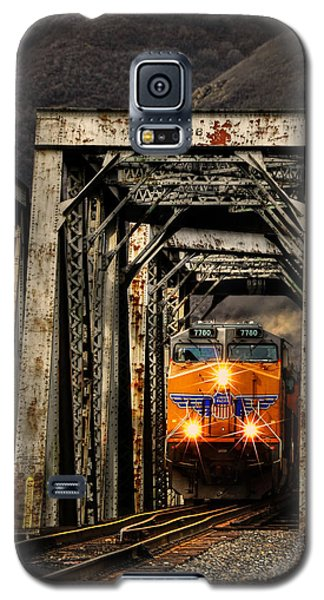 Galaxy S5 Case featuring the photograph Golden Hour Crossing by Ken Smith