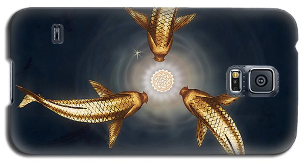 Golden Koi And Lotus Galaxy S5 Case