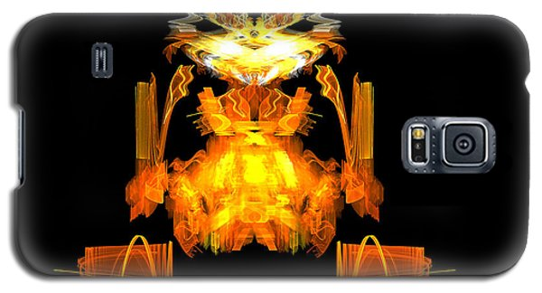 Galaxy S5 Case featuring the digital art Golden Monkey by R Thomas Brass