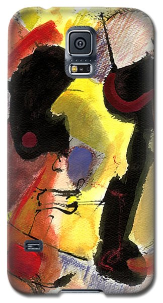 Galaxy S5 Case featuring the painting Golden Moon 2 by Stephen Lucas