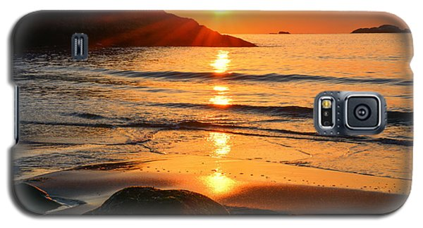 Golden Morning Singing Beach Galaxy S5 Case