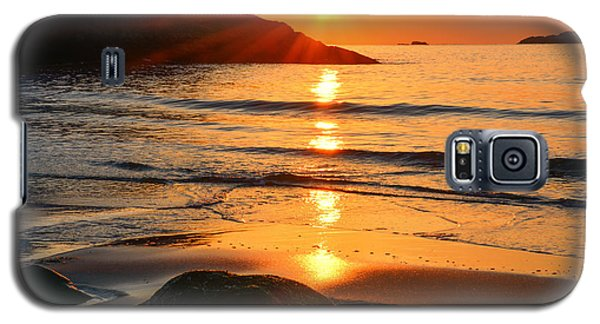 Golden Morning Singing Beach Galaxy S5 Case
