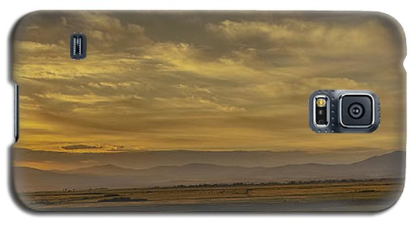 Galaxy S5 Case featuring the photograph Golden Morning by Nancy Marie Ricketts