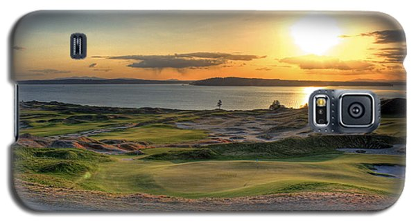 Galaxy S5 Case featuring the photograph Golden Orb - Chambers Bay Golf Course by Chris Anderson