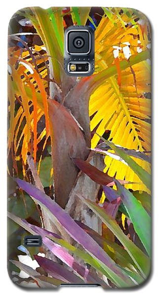 Galaxy S5 Case featuring the photograph Golden Palm 2 by Darla Wood