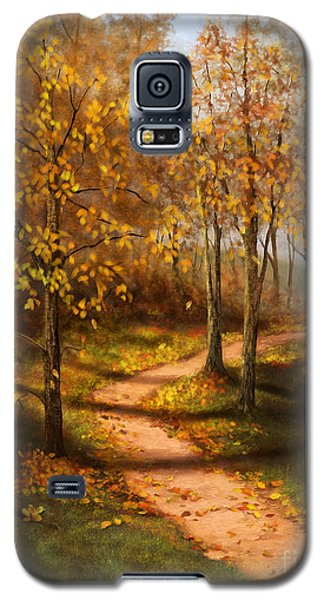 Galaxy S5 Case featuring the painting Golden Path  by Sena Wilson