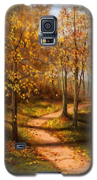 Golden Path  Galaxy S5 Case by Sena Wilson