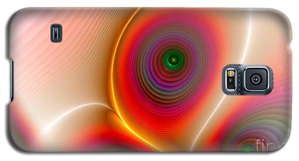 Galaxy S5 Case featuring the digital art Golden Peacock by Hanza Turgul
