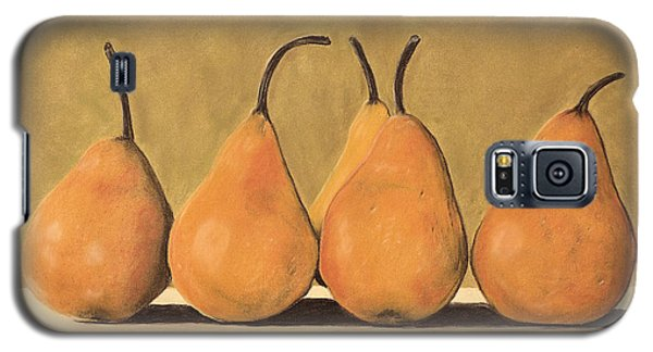 Galaxy S5 Case featuring the pastel Golden Pears  by Jan Amiss
