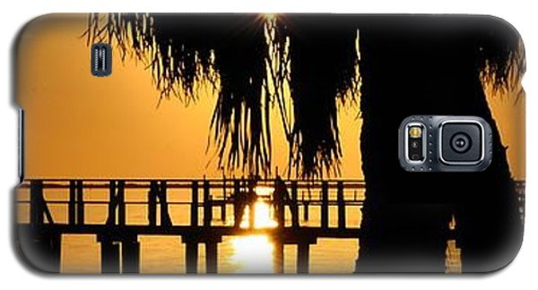 Galaxy S5 Case featuring the photograph Golden Pier Panorama by Richard Zentner