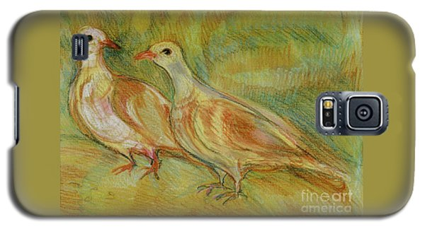 Golden Pigeons Galaxy S5 Case