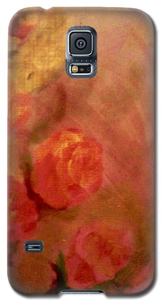 Golden Pink Roses Galaxy S5 Case by Christy Saunders Church