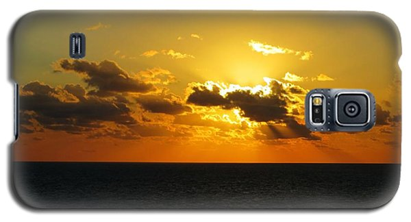 Galaxy S5 Case featuring the photograph Golden Rays Sunset by Jennifer Wheatley Wolf
