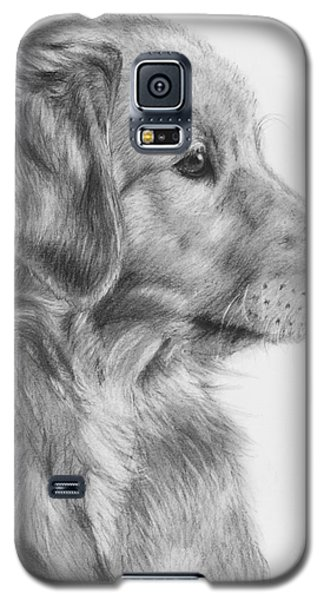 Golden Retriever Puppy In Charcoal One Galaxy S5 Case