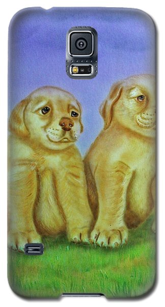 Galaxy S5 Case featuring the painting Golden Retriever by Thomas J Herring