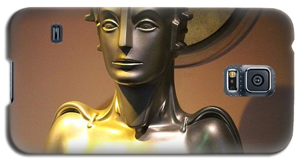 Galaxy S5 Case featuring the photograph Golden Robot Lady by Cynthia Snyder