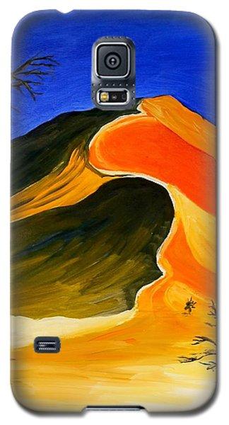 Golden Sand Dune Center Panel Galaxy S5 Case