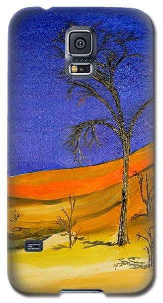 Golden Sand Dune Left Panel Galaxy S5 Case