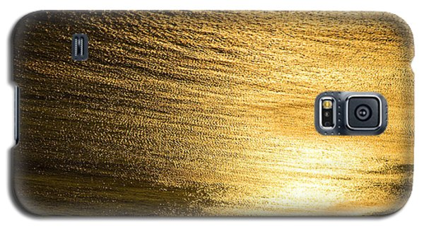 Golden Sea With Boat At Sunset Galaxy S5 Case