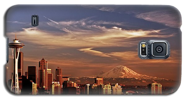 Golden Seattle Galaxy S5 Case