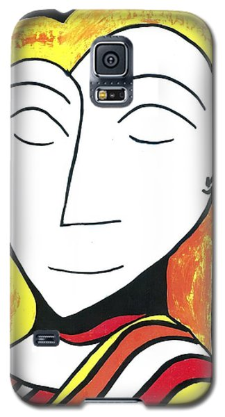 Galaxy S5 Case featuring the drawing Golden Silence by Don Koester