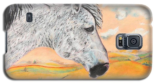 Galaxy S5 Case featuring the painting Golden Sky by Jeanne Fischer