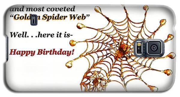 Golden Spider Web Birthday Card Galaxy S5 Case