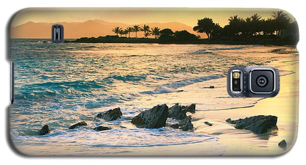Golden Sunrise On Sapphire Beach Galaxy S5 Case