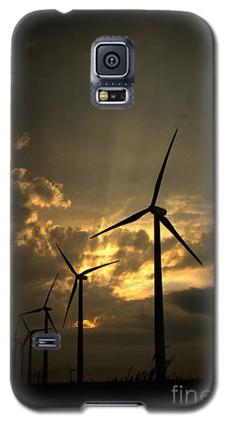 Galaxy S5 Case featuring the photograph Golden Sunset 1 by Jim McCain