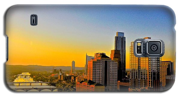 Golden Sunset In Austin Texas Galaxy S5 Case