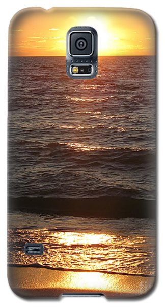 Galaxy S5 Case featuring the photograph Golden Sunset At Destin Beach by Christiane Schulze Art And Photography