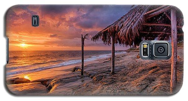 Golden Sunset The Surf Shack Galaxy S5 Case