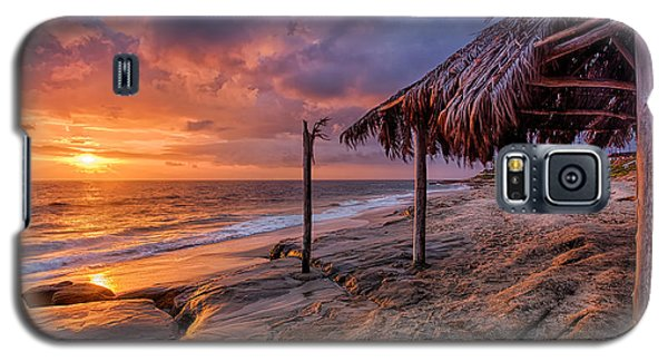 Golden Sunset The Surf Shack Galaxy S5 Case