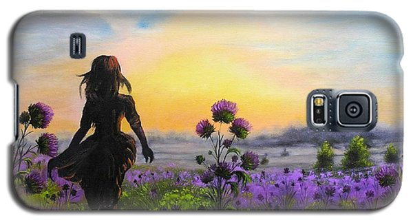 Galaxy S5 Case featuring the painting Golden Surrender by Vesna Martinjak