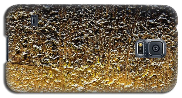 Galaxy S5 Case featuring the painting Golden Time - Abstract by Ismeta Gruenwald