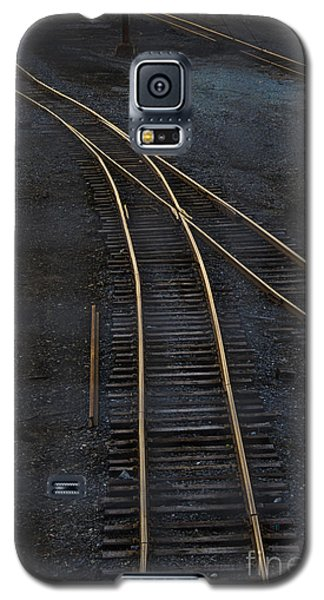 Train Galaxy S5 Case - Golden Tracks by Margie Hurwich