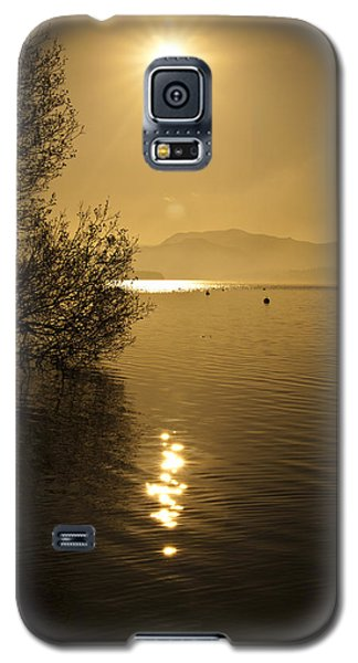 Galaxy S5 Case featuring the photograph Golden Ullswater Evening by Meirion Matthias
