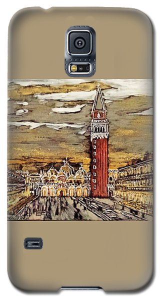 Galaxy S5 Case featuring the painting Golden Venice by Jasna Gopic