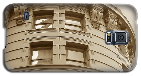 Golden Vintage Building Galaxy S5 Case by Connie Fox