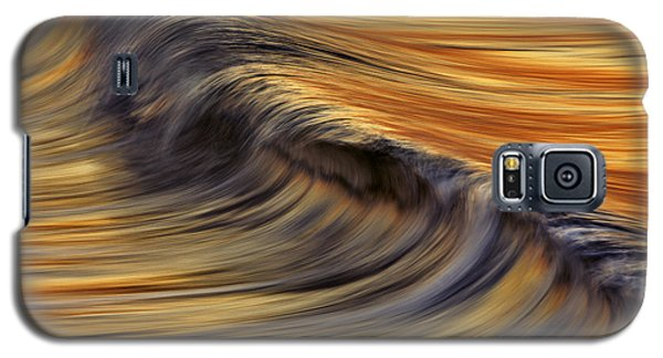 Galaxy S5 Case featuring the photograph Golden Wave  C6j7800 by David Orias