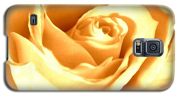 Galaxy S5 Case featuring the photograph Golden Yellow Rose by Janine Riley