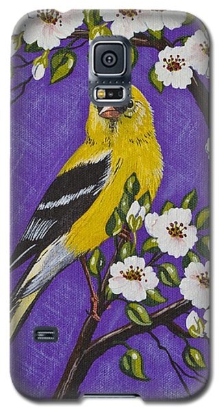 Goldfinch In Pear Blossoms Galaxy S5 Case