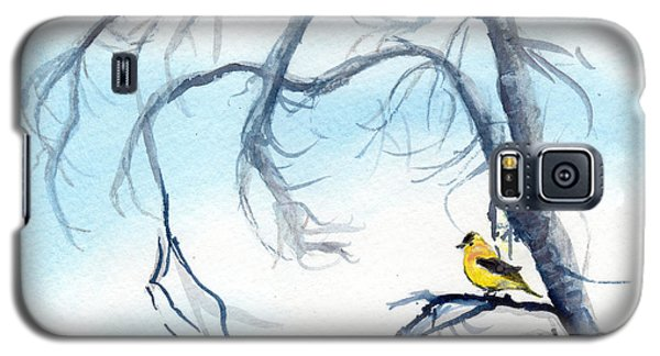 Galaxy S5 Case featuring the painting Goldfinch In Tree by C Sitton