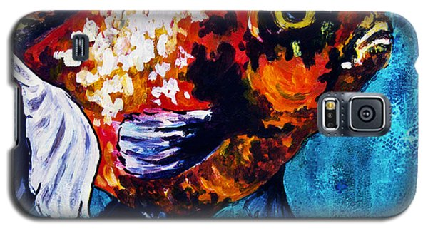 Galaxy S5 Case featuring the mixed media Goldie by Melissa Sherbon